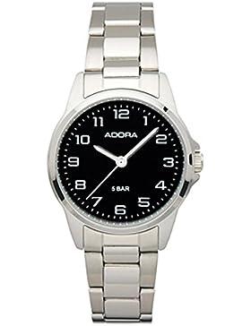 Damenuhr Armbanduhr Analoguhr Edelstahluhr mit Faltschließe Adora 29393, Variante:02
