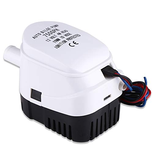 Qiilu Automatische Bilgepumpe 12V 750GPH Tauchpumpe für Boote, Teiche, Pools