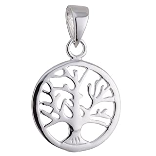 Vinani Anhänger Lebensbaum Baum des Lebens Mandala klein Sterling Silber 925 ABL-EZ