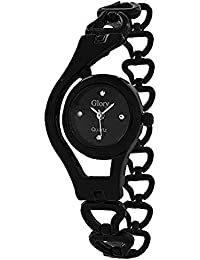 Sale Crowd Black Color Chain Watch For Girls | Beautiful Black Watch With Black Dial | Fabulous Black Chain |...