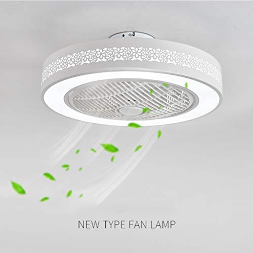 JINWELL Ventilador de techo Ventilador LED Lámpara de techo Lámpara de dormitorio moderna Nursery...