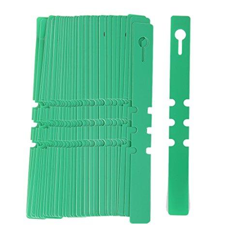 100 Stk. PVC Gewächshaus Gartenbau Pflanzenstab Hänge KragenmUmbau Aufkleber (Grün)