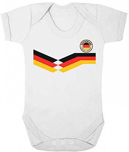 Deutschland GERMANY New Retro Strip Bodysuit für Kinder Fussball-Weltmeisterschaft 2018