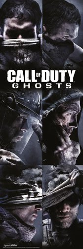 Preisvergleich Produktbild Poster Call of Duty - Ghosts Profiles LB Ego Shooter Computerspiel PC Game Gamer - Größe 53 x 158 cm - Jumboposter