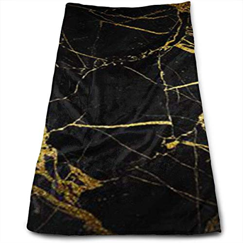 DDHHFJ Gold and Black Wallpaper Super Soft, Machine Washable and Highly Absorbent,Towel(Face Towels,for Home, Gym or Sports), -