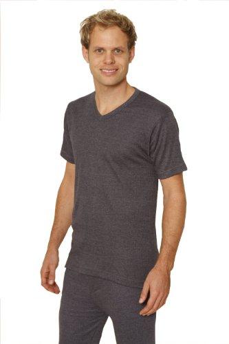 3 PACK: OCTAVE® Mens Thermal Underwear Short Sleeve 'V'-Neck T-Shirt / Vest / Top
