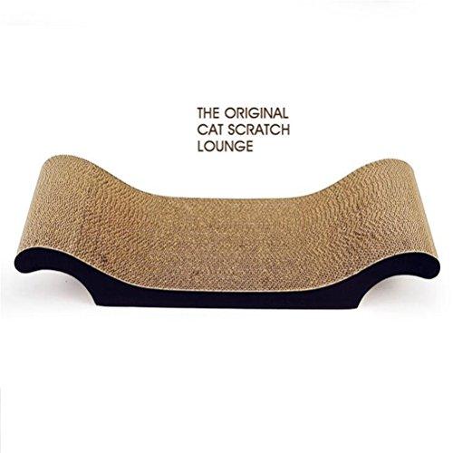 DJVD Cat Scratcher Corrugated Lounge Tiere Lieblingsbett Für Katzen Spielen Kratzen und Ausruhen Kratzen Pads Cat Bed -
