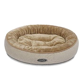 Pecute Panier Lit pour Chien Chat Pets Animaux Coussin Chaud Ovale Ultra-Doux Lavable en Machine Taille M Poids Moins de 10 Livres