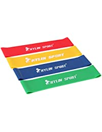 KYLIN SPORT Set Of 4 Levels Resistance Loop Elastic Bands Workout Fitness Stretching Physical Therapy Equipment...