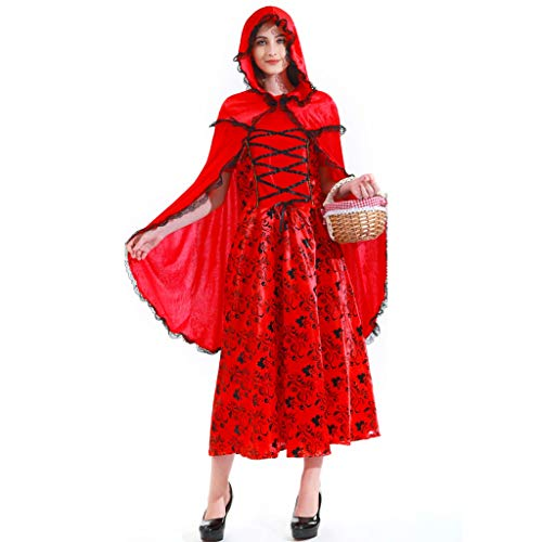 Kostüme Cosplay Halloween Kostüm Masquerade Horror Erwachsene Hexe Kostüm Witcher Anzug Hexe-Kostüm Horrorkostüm (Color : (Masquerade Kostüm Plus Größe)