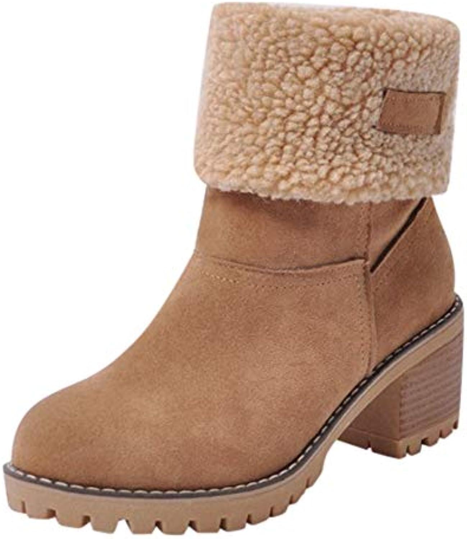 Oyedens Femme Bottes De Neige Fourrées Chaussures pour Femmes Chaudes Hiver Bottes Chaudes Femmes Botte Martin Botte Courte Bottes...B07K2D1DHLParent 09ee60