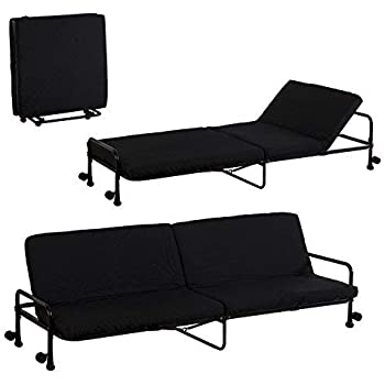 Homcom Sofa Bed Recliner Foldable Couch Sofabed 3 Seater