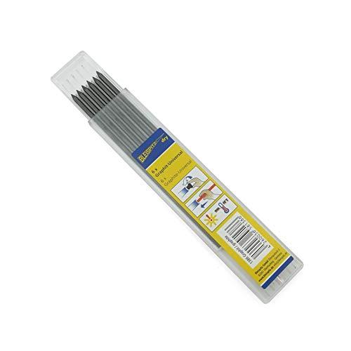 6 St. Bleispitz Graphit Ersatzmine 2,8 mm zum Markieren auf rauen und glatten Oberflächen am Werkstück, integrierter Spitzer im Druckknopf