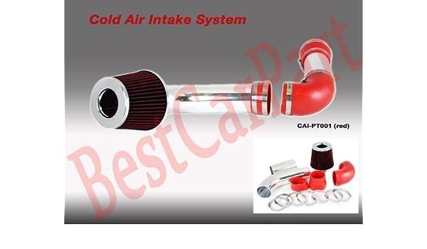 Included Air Filter 88 89 Pontiac Firebird Formula//trans Am Cold Air Intake Red #Cai-pt001r