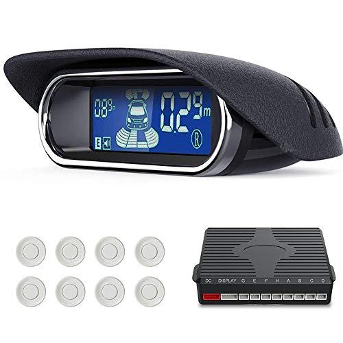 MOGOI Parksensoren-Kit, Rückwärtige Rückfahr-Parksensoren Mit Backup-Radar-Tonalarmsystem - 2019 Neueste LCD-Anzeige Für Vorder- Und Rückseite Für BiBi-Alarm Für Alle Fahrzeuge -