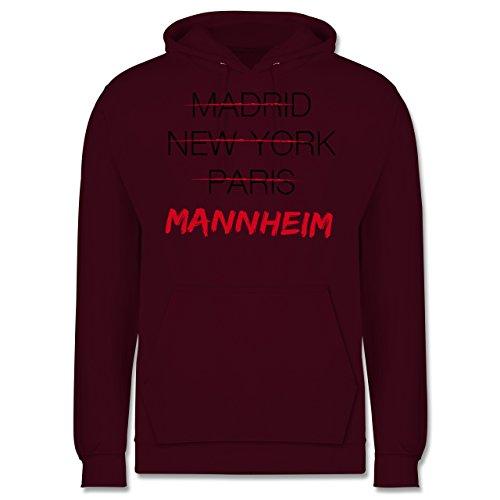 Städte - Weltstadt Mannheim - Männer Premium Kapuzenpullover / Hoodie Burgundrot