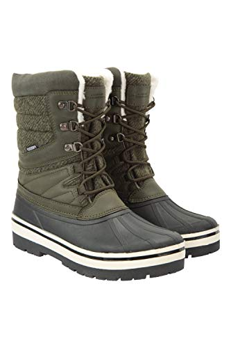 Mountain Warehouse Andorra Extreme Womens Snowboots - Waterproof Winter Shoes, Thermal Tested Footwear, High Traction, Faux Fur Trim - for Walking, Ski Holidays