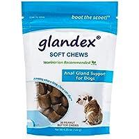 Glandex pastillas para masticar de 30 cuentas, suplementos digestivos para perros