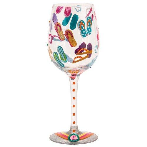 Santa Barbara Designstudio GLS11-5526T Lolita Love My Wein handbemalte Glasvase, Zehentrenner Too