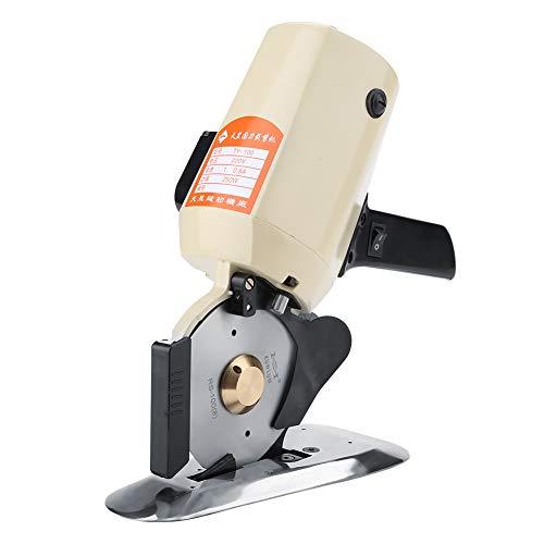 TY-100 Elektrischer Stoffschneider, Automatische Hochgeschwindigkeitsrunde Stoffschneidemaschine für Multi Stoff Lederwolle 220 V(EU)
