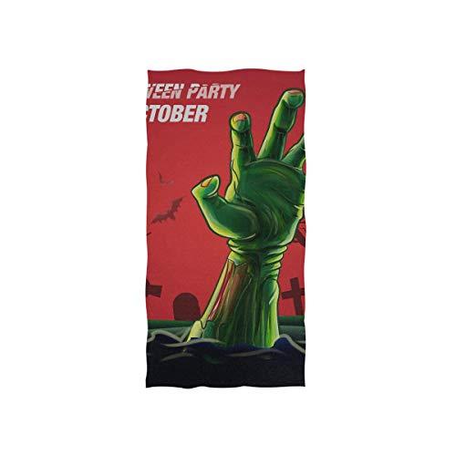 Halloween aufregende Zombie Hand Soft Spa Strand Badetuch Fingerspitze Handtuch Waschlappen Für Baby Erwachsene Badezimmer Strand Dusche Wrap Hotel Reise Gym Sport 30x15 Zoll