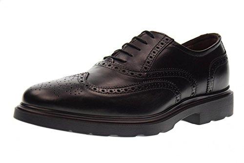 NERO GIARDINI chaussures homme A705283U lacées / 100 NOIR black