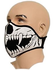 Bestellmich - Máscara de boca para ciclismo, paintball y esquí (neopreno), diseño de tatuaje