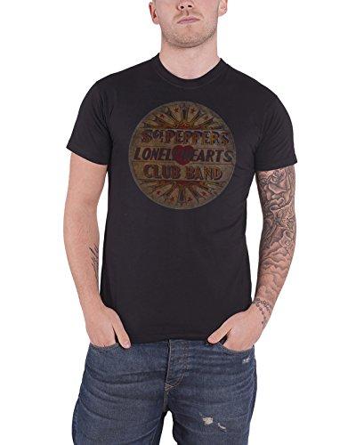 The Beatles T Shirt Vintage Drum Head Sgt Pepper Logo offiziell Herren Nue