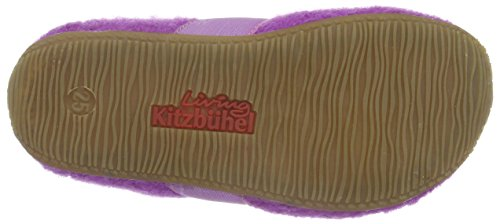 Living Kitzbühel Mädchen T-Modell Katze mit Brille und Vogel Flache Hausschuhe Violett (iris 371)