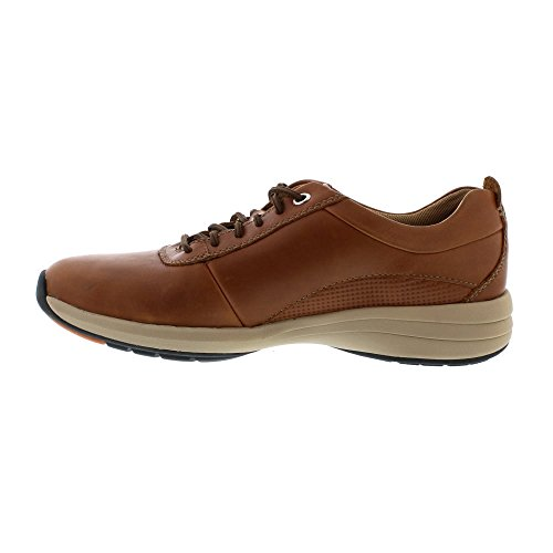 Clarks Un Coast Plain - Dark Tan Leather Black