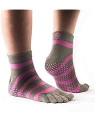 Chaussettes de Yoga/Pilates/Exercice Sport - Doigts de Pied Séparés - Antidérapantes - Avec Orteils - Grip Socks en Coton - PhysioWorld