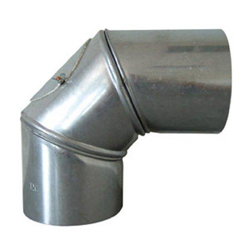 Rewwer-Tec 332067/ 030812 Universalknie Fal mit Tür 90°, 130 mm Durchmesser, drehbar