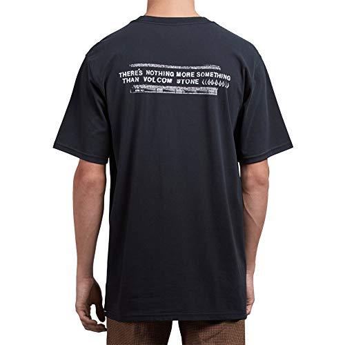 Volcom Men's Stone Cycle Short Sleeve T Shirt Black L - Volcom Stone Rings