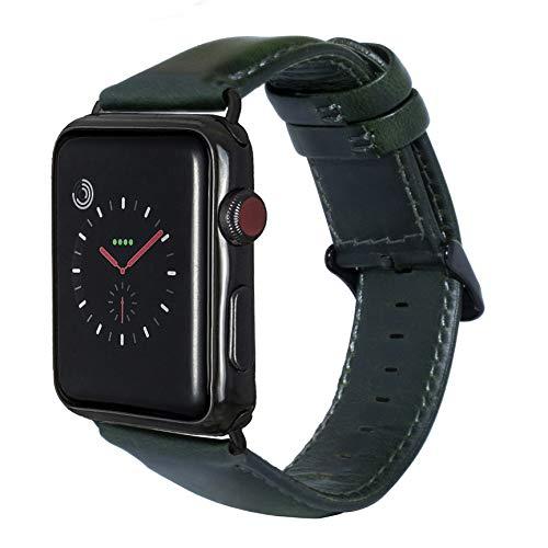 Schwarz Sand Durch Keramik (Aladrs verlängerte Uhrenarmbänder Kompatibel mit Apple Watch Band 42mm 44mm, Ersatz für echtes Lederarmband Kompatibel mit iWatch Serie 4 3 2 1, für Frau und Mann)