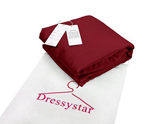 Dressystar Robe de soirée/bal/gala mini courte,bustier,à col en cœur à strass en tulle Bordeaux