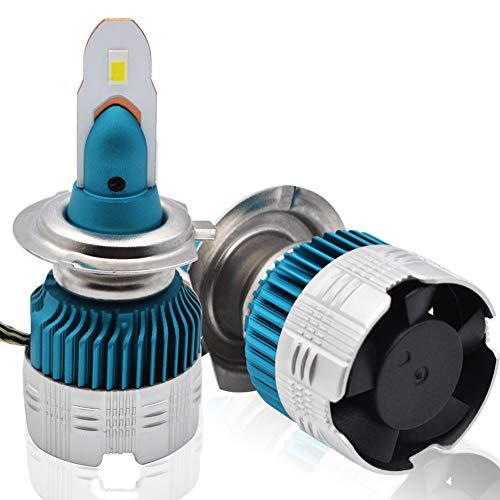 BeiLan H7 LED Lampadina per fari auto, 12V, 55W alogena, chip COB 6000LM 6500K Car Led fari anabbaglianti, fari automatici Led Light Cool White, confezione da 2