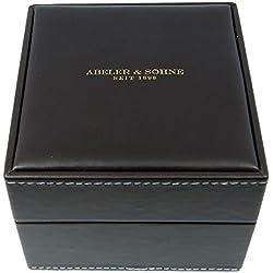 Edle Uhrenbox aus Kunstleder braun Uhrenschatulle Abeler & Söhne - 28262