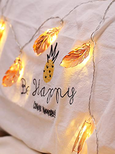 Feder Kleine Farbe Licht Blitz Lampe String Lampe Mädchen Zimmer Dekorative Lampe Schlafzimmer Romantische Anordnung Mädchen Herz Stern Lampe 6m40 licht Batterie -