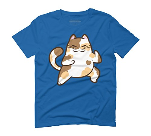 Karate Calico Men's Graphic T-Shirt - Design By Humans Royal Blue
