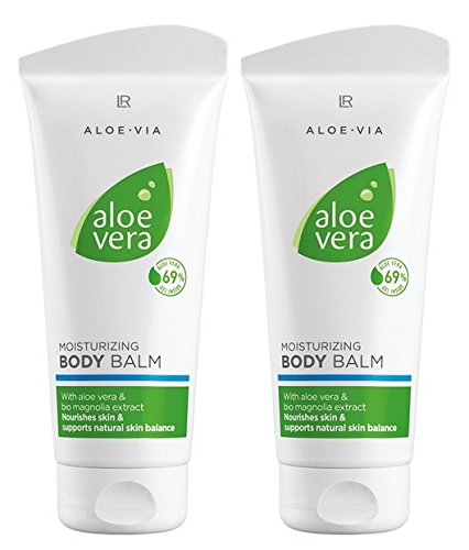 LR ALOE VIA Aloe Vera Feuchtigkeitsspendender Körperbalsam (2x 200 ml) - Gel Duftenden Body Lotion
