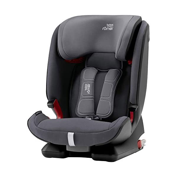 Britax Römer car seat 9-36 kg, ADVANSAFIX Z-LINE Isofix Group 1/2/3, Storm Grey Britax Römer Made in germany Flip & grow - change from buckle to secureguard Excellent security concept - with xp-pad, secureguard and pivot link isofix system 1