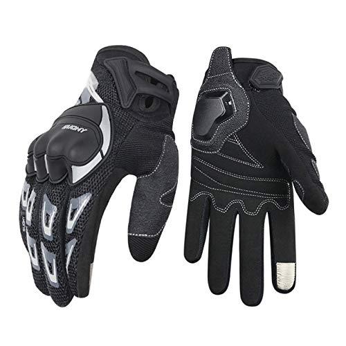 Bruce Dillon Guanti da moto da uomo guanti da moto invernali antivento impermeabili touch screen guanti da moto -Nero X XL