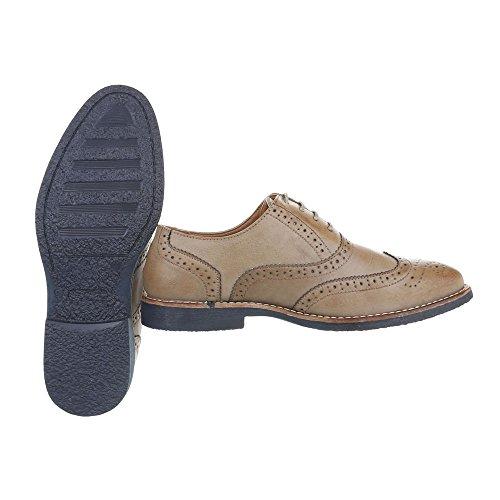Scarpe Stringate Stringate Oxford Blazer Stile Ital Design Uomini In Pelle Nera Chiaro
