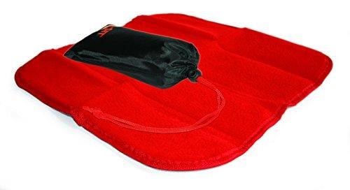 "Linotex trendige Sitzkissen ""All-Sit Fleece"" | Thermo-Isolierfolie | Fleece 240 g/m² | 33 x 33 cm | NY-07-06-018 (Rot)"