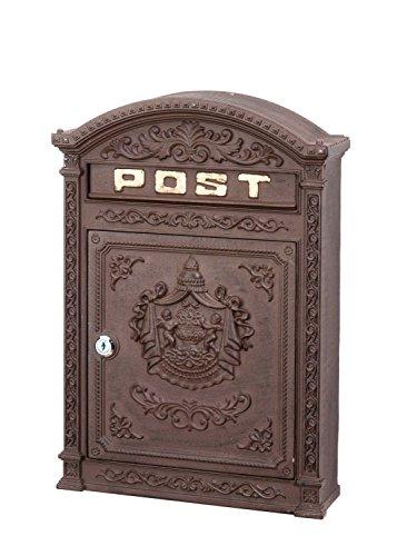 Briefkasten Wandbriefkasten Alu Nostalgie Postkasten braun antik Stil letterbox - 4