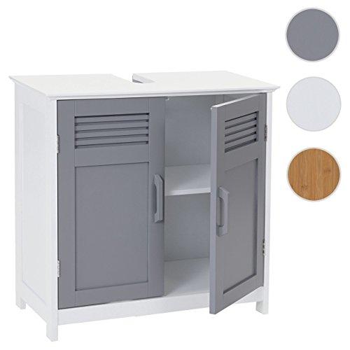 Mendler Waschbeckenunterschrank HWC-A85, Badschrank 60x60x30cm ~ Grau