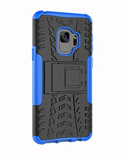 S9 Case, Galaxy S9 Case, Moment Dextrad [Built-in Kickstand][Non-slip Design] Dual Layer Hybrid Full-body Rugged [Shock Proof] Protection Cover for Samsung Galaxy S9 (5.8 inch) (2018) + Stylus (Blue)