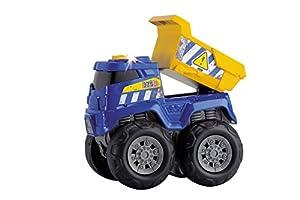 Dickie  de Juguete 203301001-Monster Truck, Tough Workers, Azul/Rojo/Amarillo