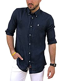 TIPO S Camisa Casual - Camisa - con Botones - Manga Larga - para Hombre efb0deb050a