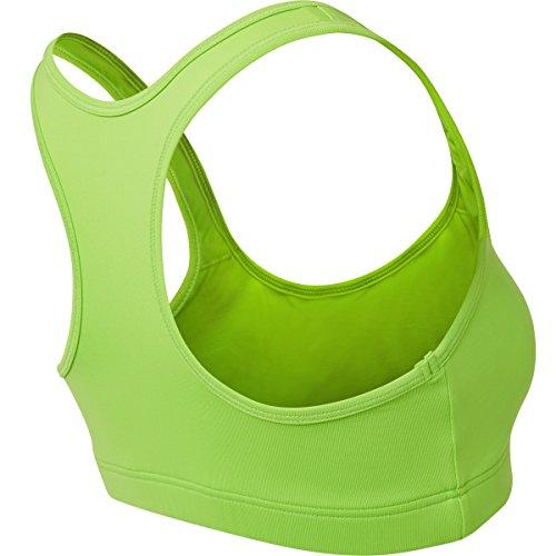 Sportkind Soutien-gorge de sport / tennis / fitness avec maintien moyen pour fille et femme en jaune tailles 11 ans à XL vert fluo